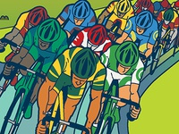 Cropped image of UCI Bike Race Poster