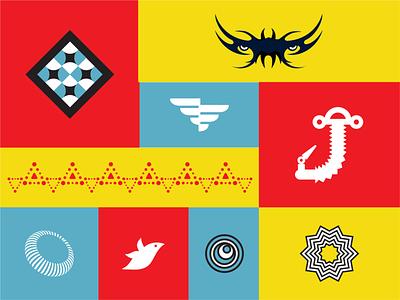 Shape Exploration symbols pattern design letter tatoo shapes icon logo design logo designer idea