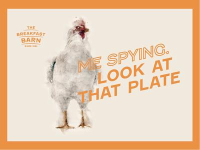 Breakfast Barn Adverts fun chicken wordmark brand identity poster design advertisment graphic design brand