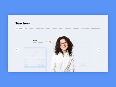 Home Page for an Online School Website online school online education illustration web design desktop web ux ui design