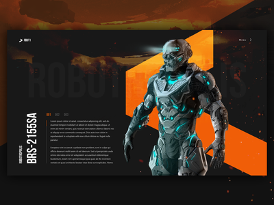 I'm coming for you :) promo robot black webdesign design web ux ui minimal
