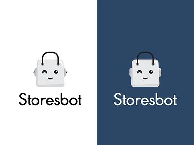 Shop logo e-commerce commerce ecommerce icon typography vector illustration minimal store shop robot branding logo design
