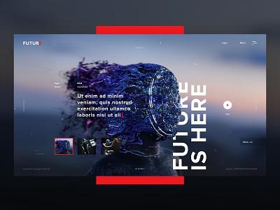 Future is here digital human transform technology cyber biotech futurism abstact robot future promo web design