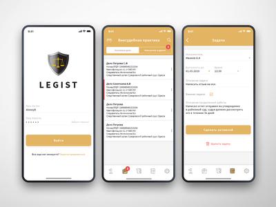 Mobile legal app