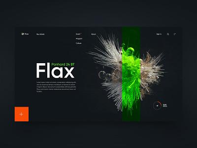 New minimal abstraction orange green homepage style new ui branding abstraction webdesign promo web design minimal