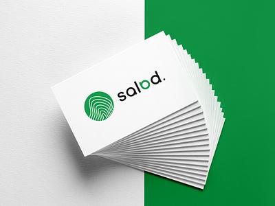Branding Salad green salad vector design identity logo logotype branding