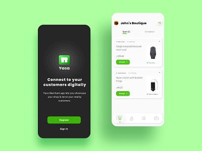 Yaca App user interface neumorphic design neumorphic uidesign uxdesign app design app ui design