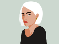 White-Haired Woman Illustration