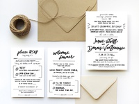Quirky Wedding Invitation Suite