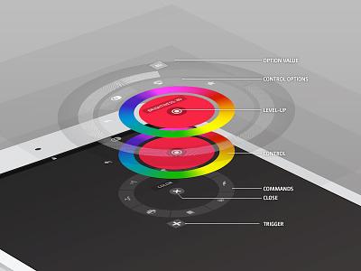 Radial Menu Concept Dma navigation ui explore radial menu circle controls