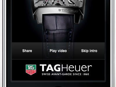 Tag Heuer Monaco V4 watches iphone 3d real-time tag heuer
