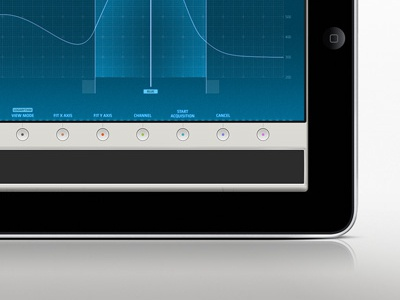 Interface Study ipad controller interface blue digital buttons