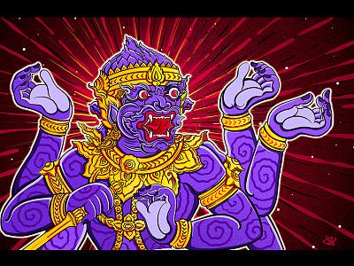memories of Thailand illustration bangkok thailand thai