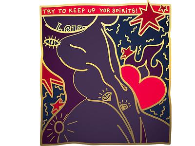 TRY TO KEEP UP YOUR SPIRITS fitnes illustration popart adobe illustrator illustration digital illustraion