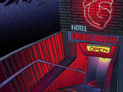 Hotel Broken hearts illustration comics