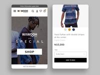 Fashion brand mobile app