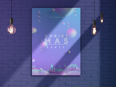 Christmas Poster Free brick wall graphic design snowball christmas tree merry christmas trendy color trendy free download download free christmas card christmas poster gift gift card psd cover winter party