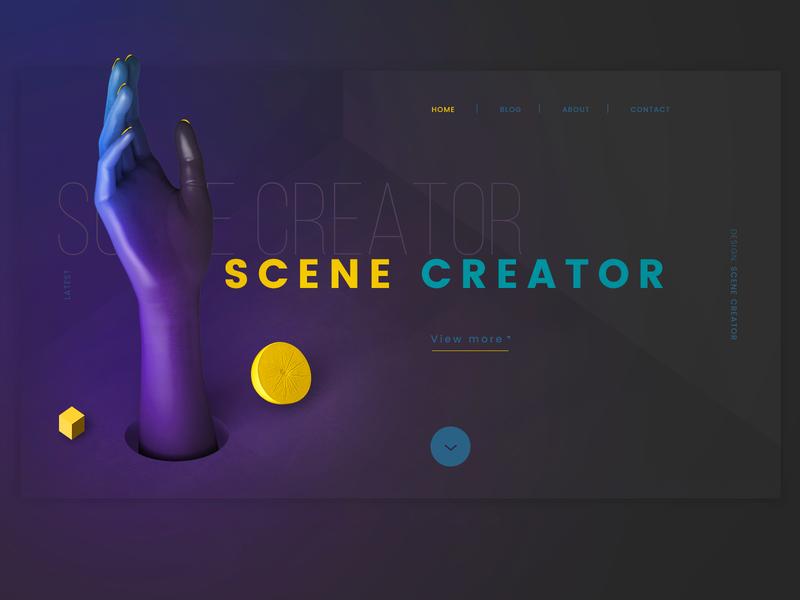 Romantic Fashion #07 💛💜 inteface ui illustration photoshop png psd scene creator scenecreator design graphic abstract yellow purple lemon hand 3d website web ui ux design ui  ux