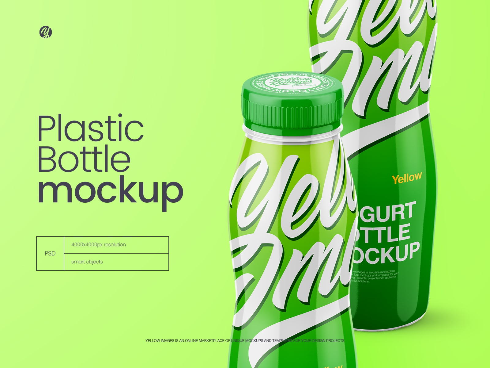 Download Glossy Plastic Bottle Mockup Front View By Helenstock On Dribbble Yellowimages Mockups