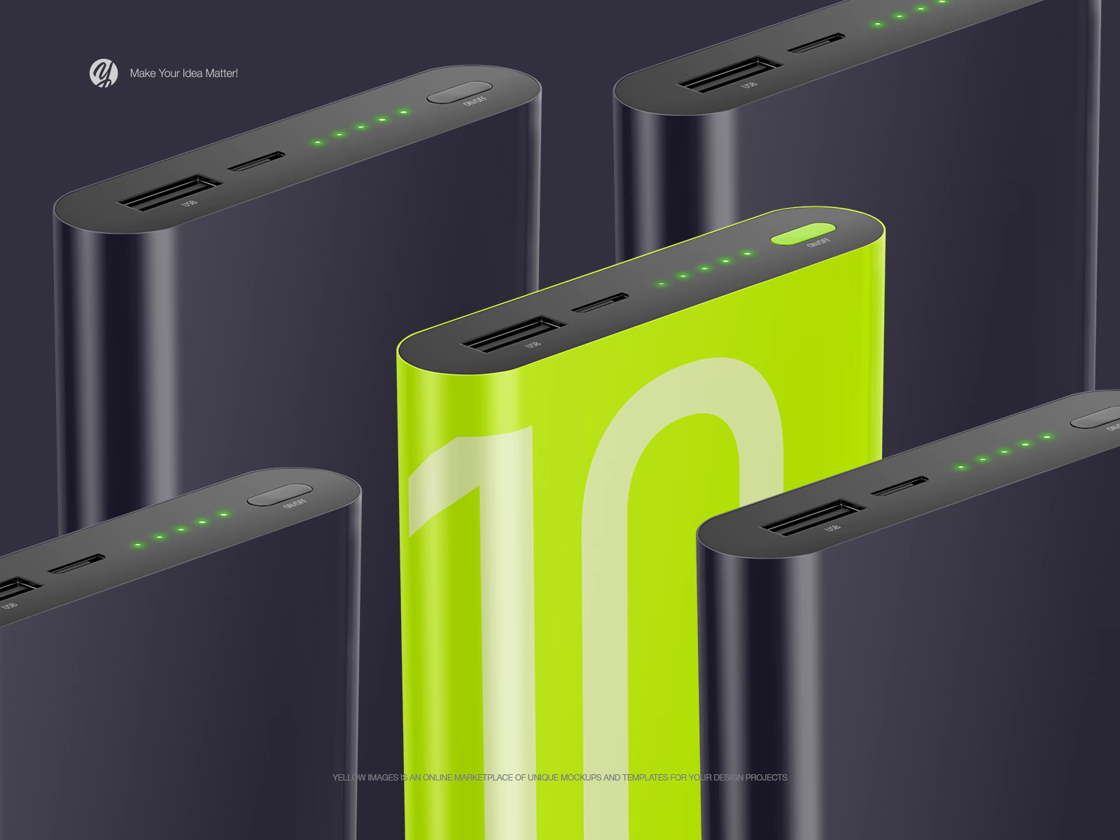 Dribbble powerbank animation