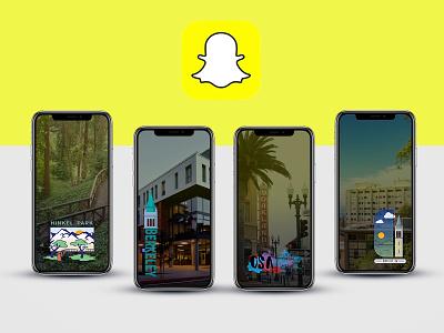 Snapchat GeoFilters vector branding icon simple typography identity logo illustration design graphic design cities city geofilter filter snapchat snap