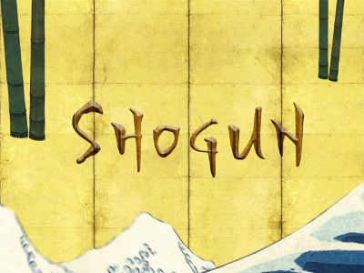 Shogun Movie Trailer illustration identity typography typography design after effects photoshop james cavell traditional shogun asian 2d animation