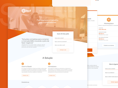 Base B - Landing Page design ui user interface