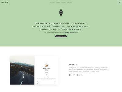 Leeflets Home page single marketing leeflets