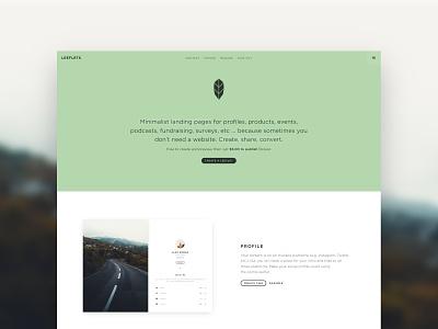 Leeflets Home page html single design css