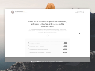 Buying Time for Leeflets payment form payment profile landing page single css html