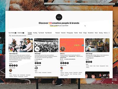 DSKO.app tour marketing uiux website profile card social web app dsko