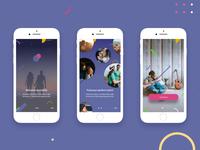 Gravity App Intro Screens