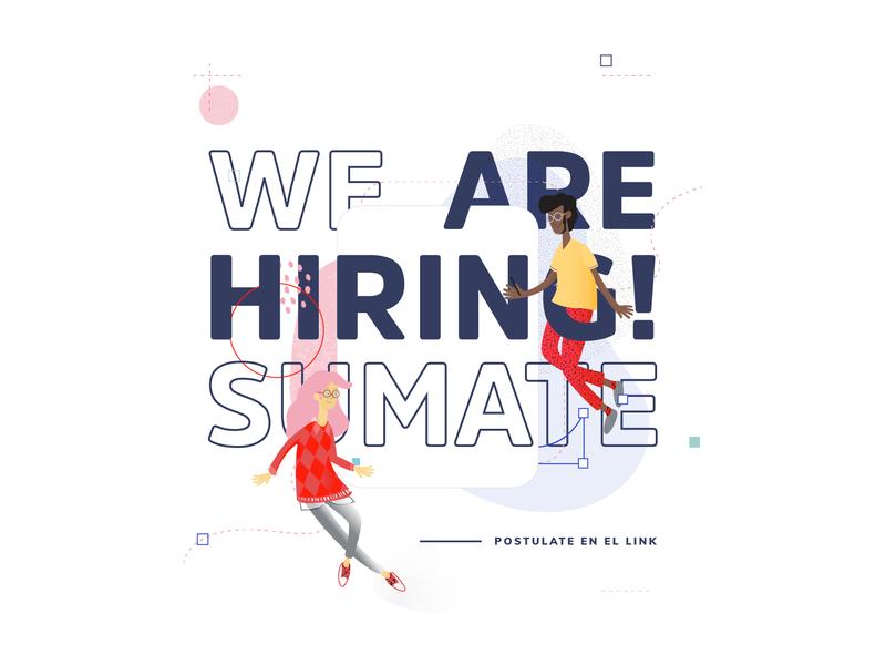 We Are Hiring! design hiring ilustracion