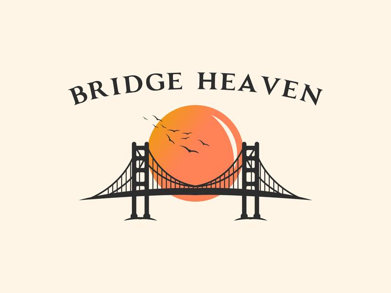 Bridge Heaven Vintage Logo Design