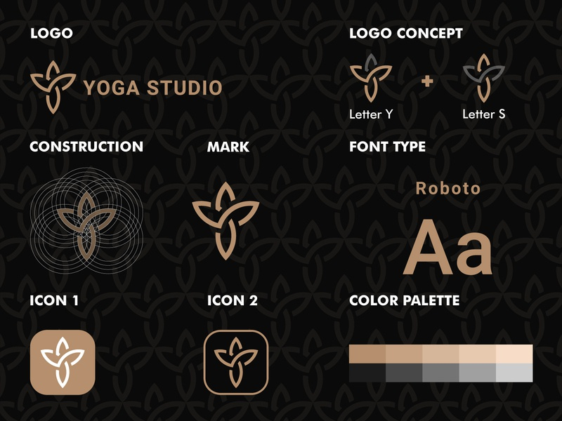Letter YS Yoga Studio Logo Design Concept simple concept symbol icon lettermark monograms modern illustration illustrator yoga logo type monogram logotype clean logo identity graphic design design branding brand
