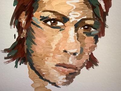 Self portrait acrylic van gogh portrait face art sketch visual art digital art self portrait