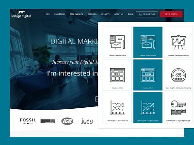 Indago Digital custom icons ui design illustration illustrator iconset icons