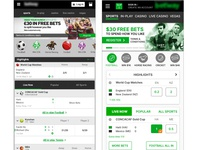 Gambling responsive website concept - Before and After