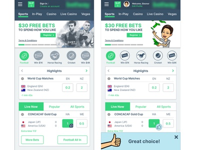 Gambling responsive web design - future product design mobile design mobile user experience ux user interface icons vector ui illustration before and after concept app design app sports sport responsive website gambling gaming product design