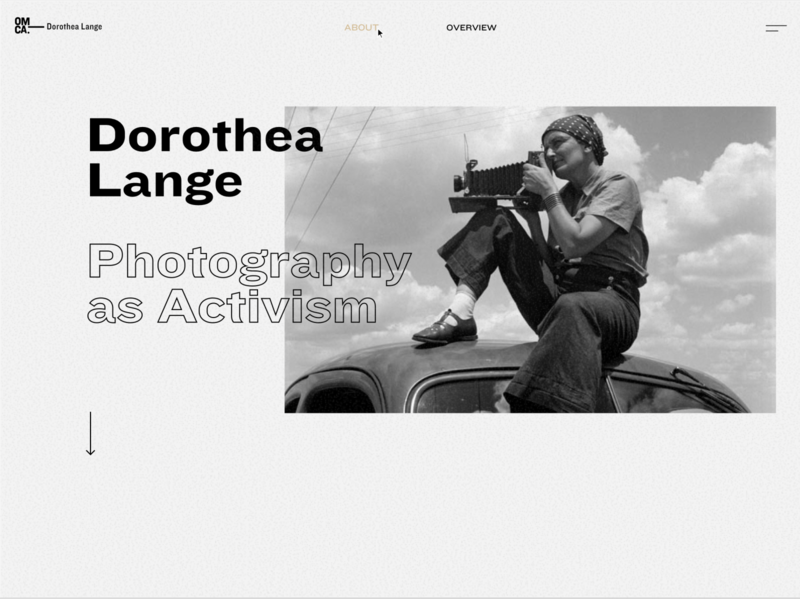 WIP - Dorothea Lange Gallery website