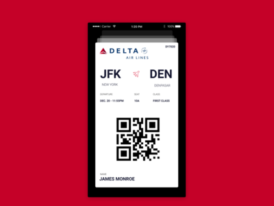 Boarding Pass UI