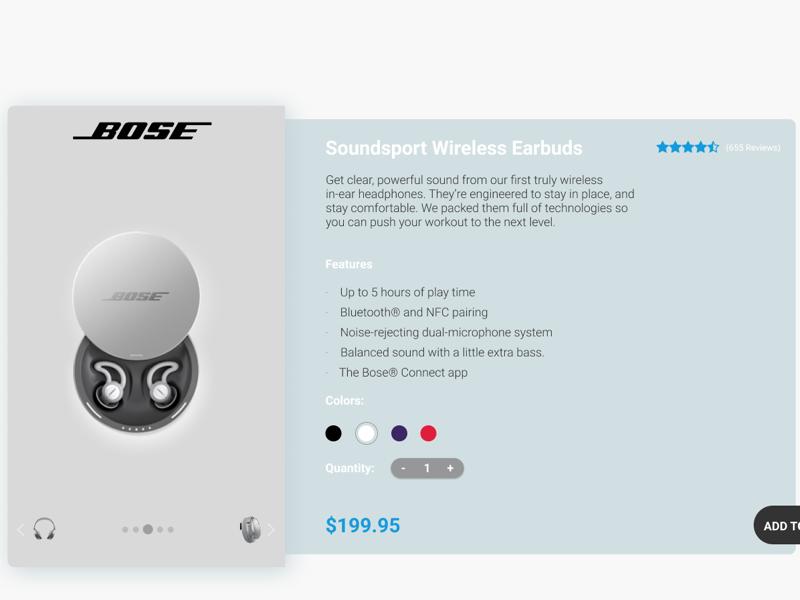 BOSE Wireless UI branding marketing ui ux