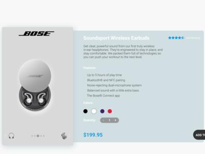 BOSE Wireless UI