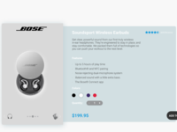BOSE Wireless UI