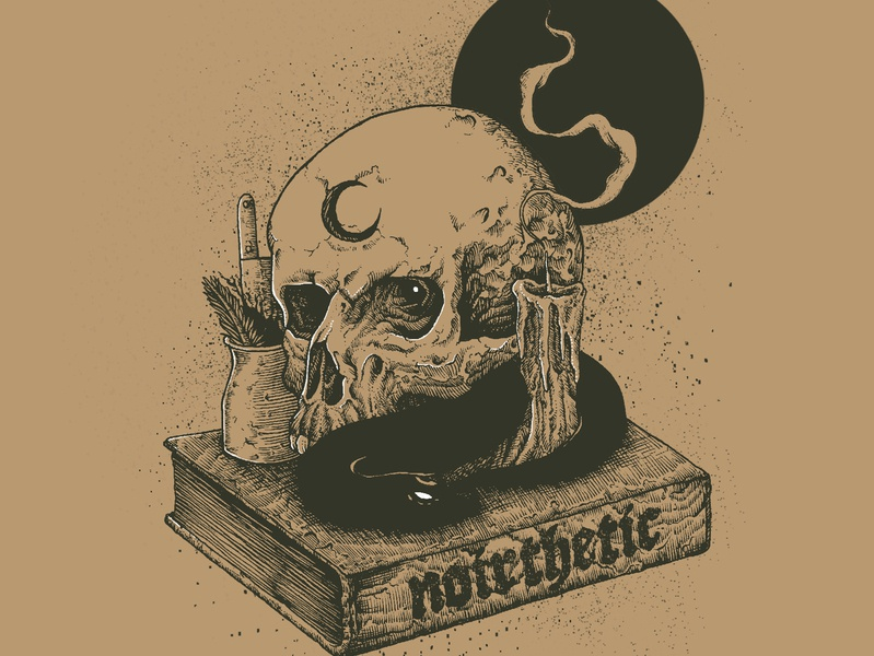 Noirthetic: Ritual macabre art macabre typography traditional drawing merchandise design drawing surrealism dribbble digital drawing illustration digital painting digital art design