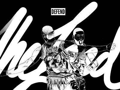 Defend the Land- Cavs Illustration ivring lebronjames lebron 2017 finals cavaliers cleveland cavs nba illustration