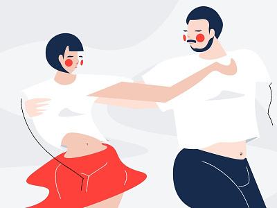Dance of Valentine's Day dance party illustration rumba samba