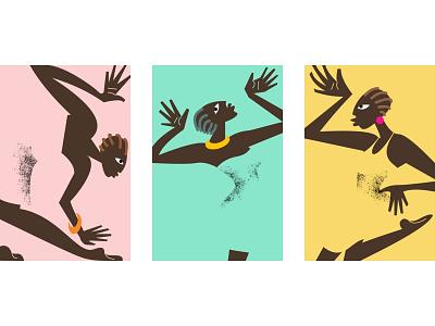 Wild Africa I composition africa illustration