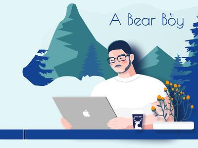 A Bear Boy developer bear forest boy illustration