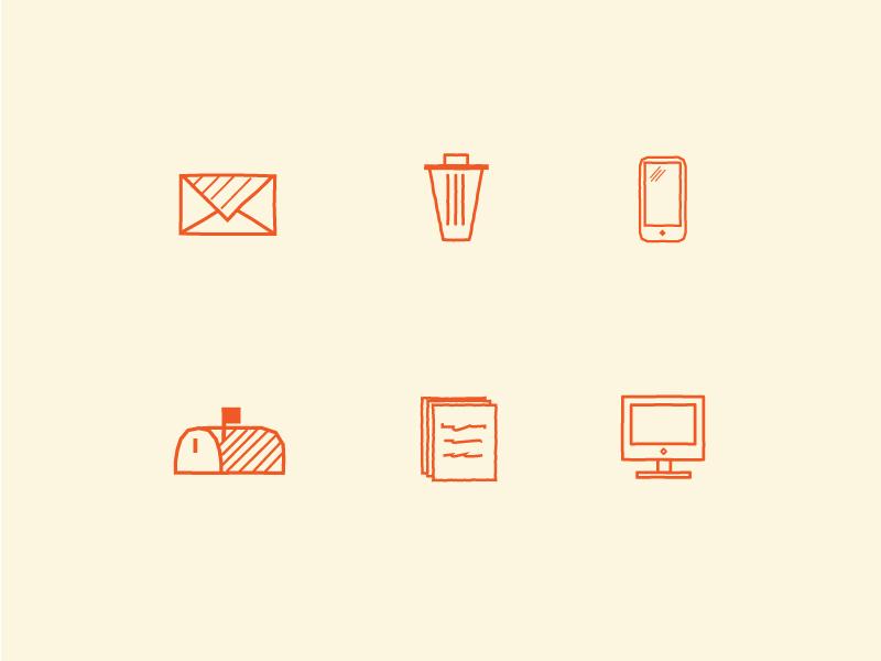 Various Icon Illustrations infographic minimal branding illustration icons